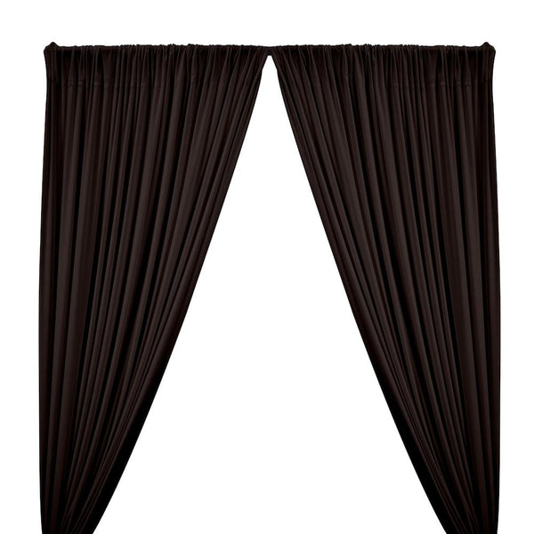 ITY Knit Stretch Jersey Rod Pocket Curtains - Brown