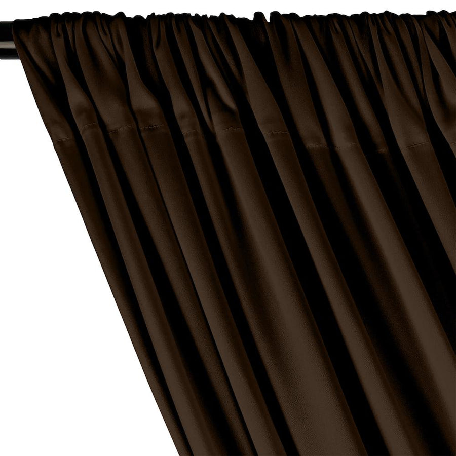 Interlock Knit Rod Pocket Curtains - Brown