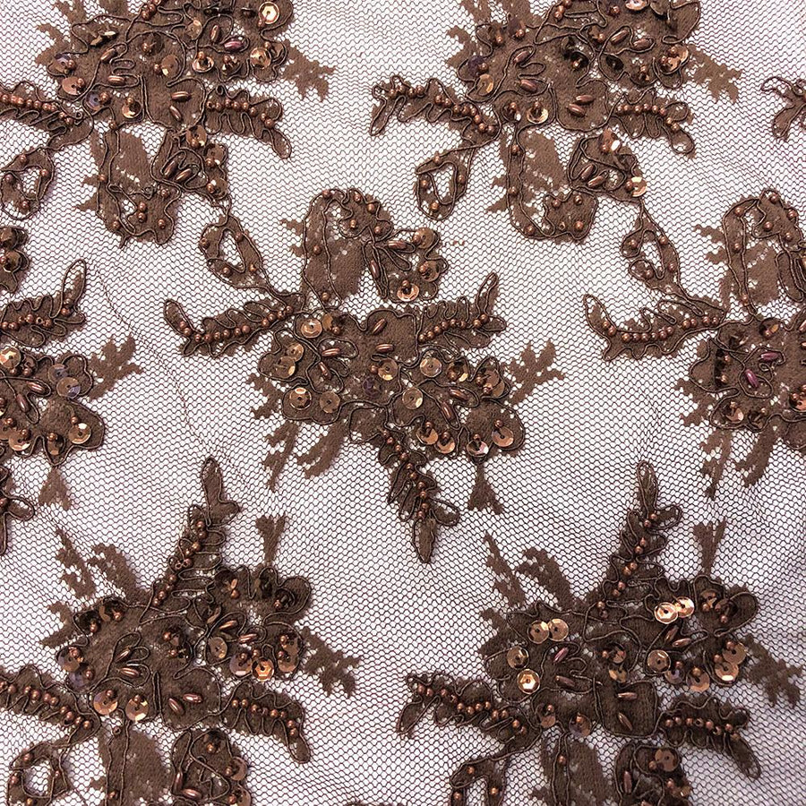 Brown Queen Beaded Lace