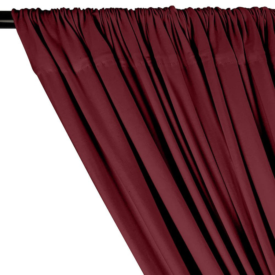 Cotton Jersey Rod Pocket Curtains - Burgundy
