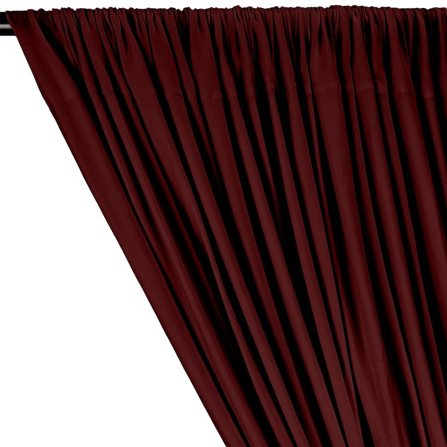 DTY Double-Sided Brushed Rod Pocket Curtains - Burgundy