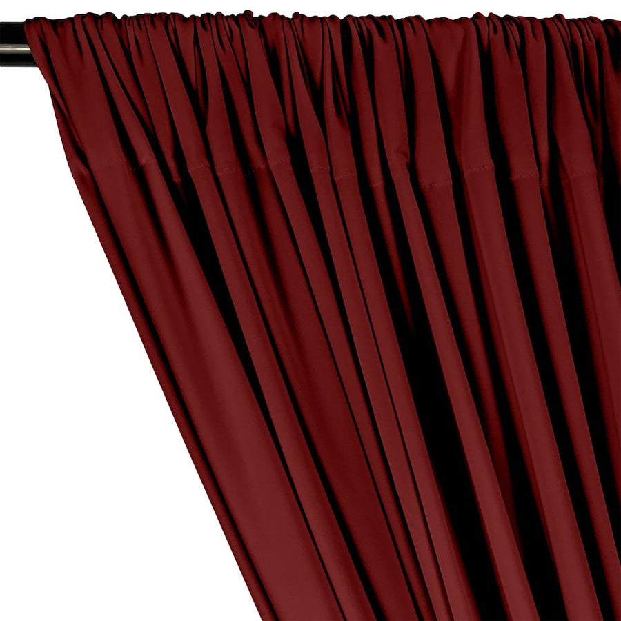 ITY Knit Stretch Jersey Rod Pocket Curtains - Burgundy