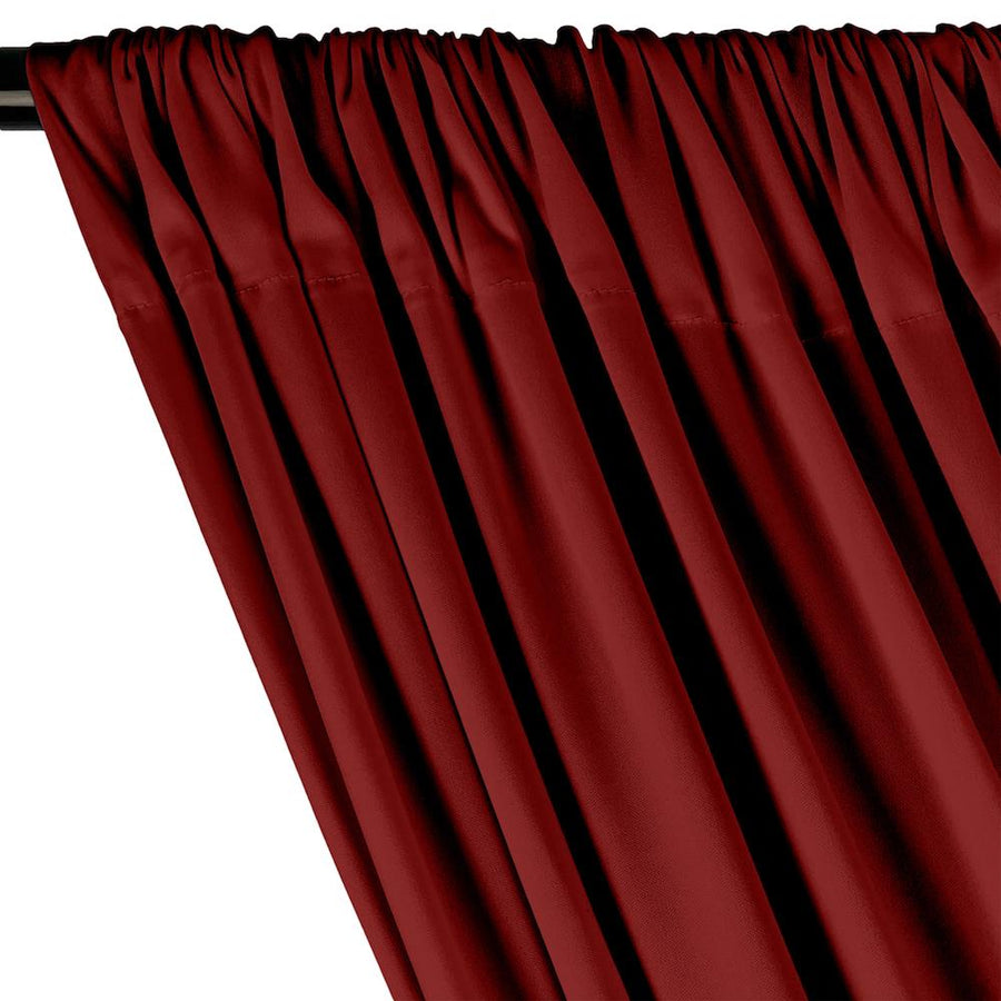 Interlock Knit Rod Pocket Curtains - Burgundy