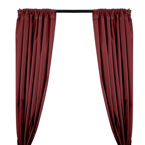 Ottertex® Canvas Waterproof Rod Pocket Curtains - Burgundy