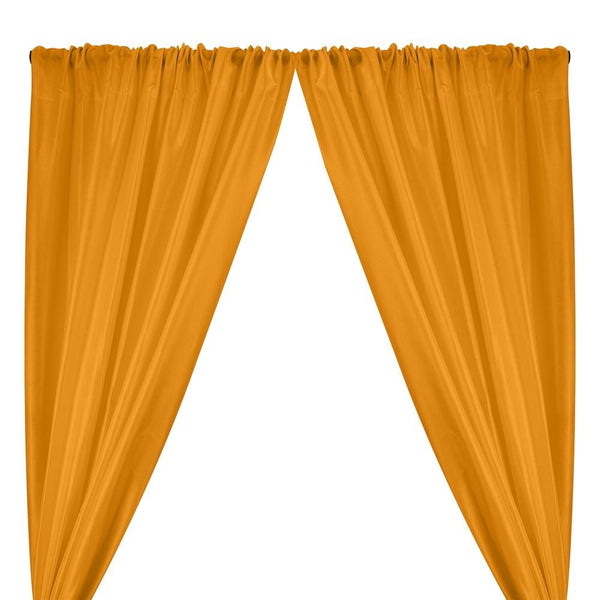 Polyester Dupioni Rod Pocket Curtains - Burnt Orange 109