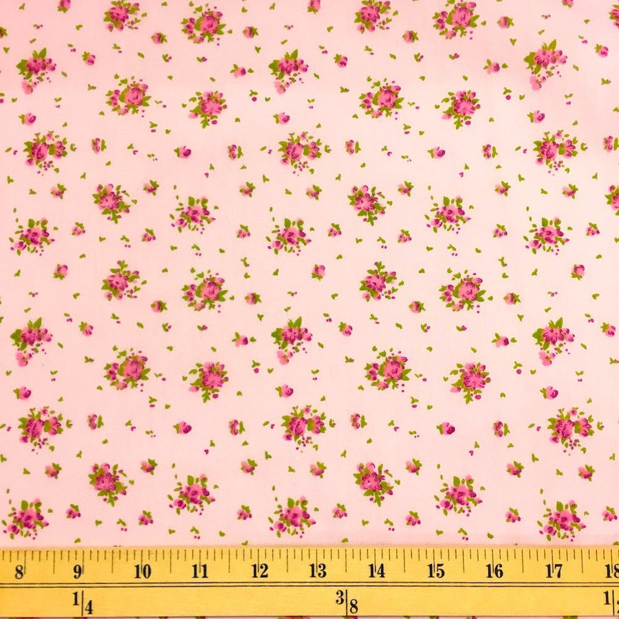Buttercup Pink Print Broadcloth Fabric