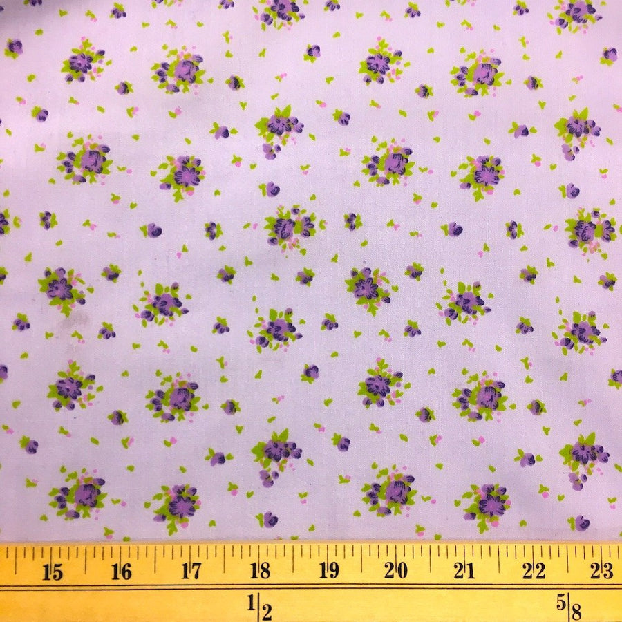 Buttercup Purple Print Broadcloth Fabric