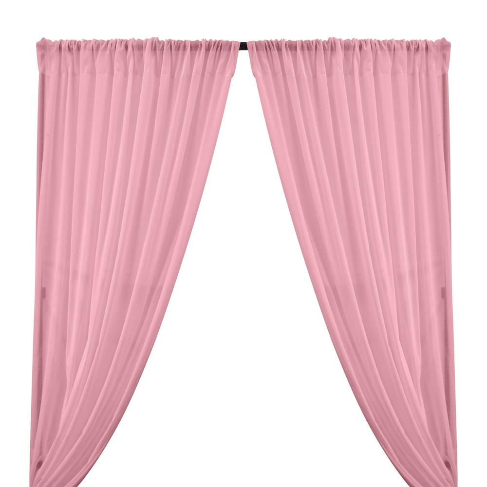 Cotton Voile Rod Pocket Curtains - Candy Pink