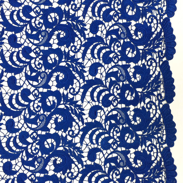Royal Blue Cardinal Guipure French Venice Lace Fabric