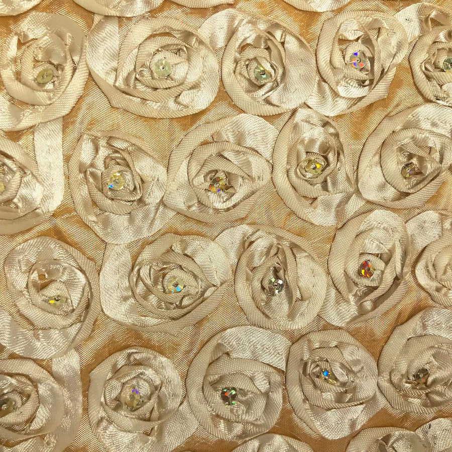 Champagne Sequins Rosette