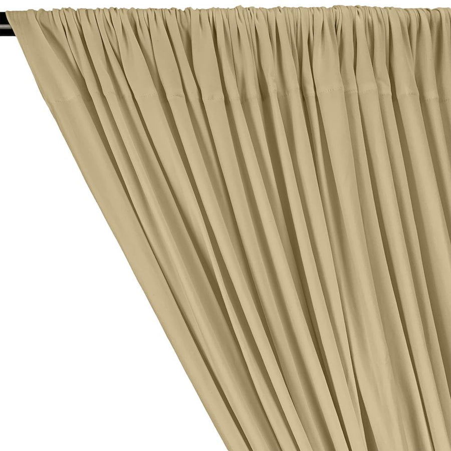 DTY Double-Sided Brushed Rod Pocket Curtains - Champagne