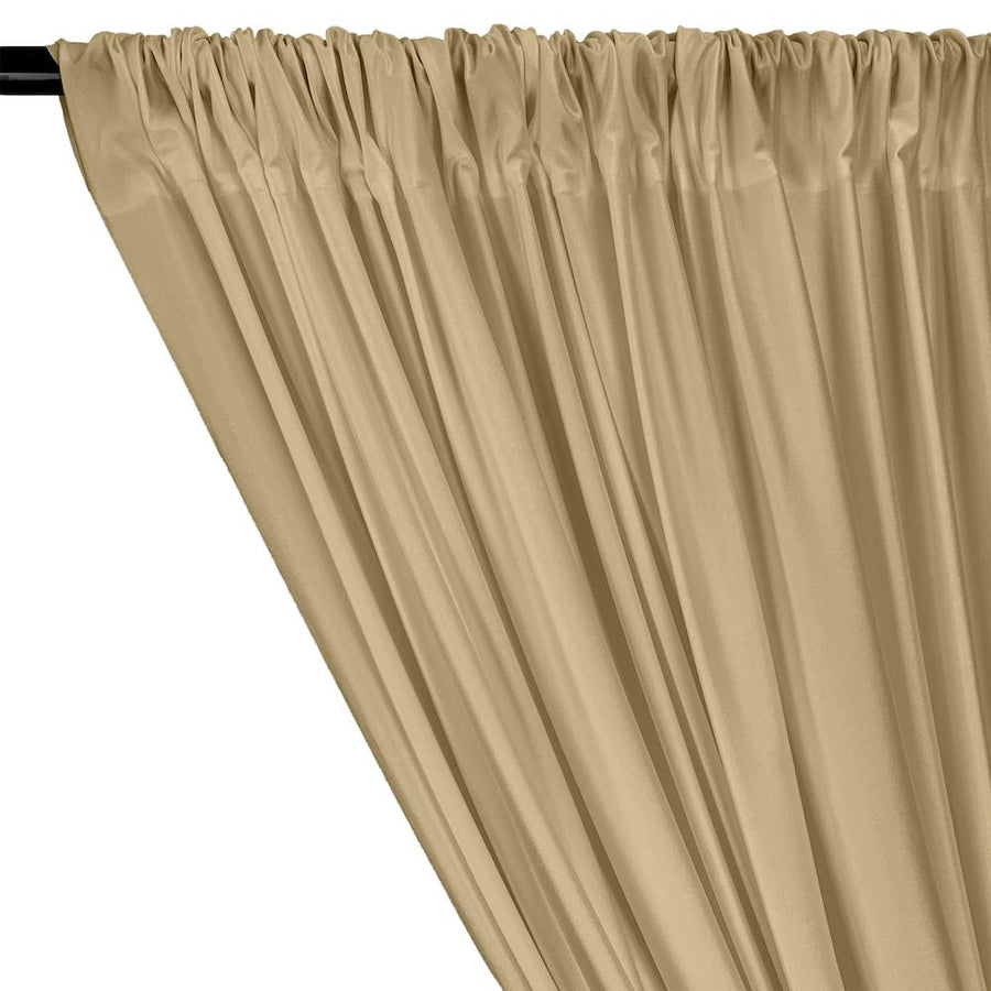 Shiny Milliskin Rod Pocket Curtains - Champagne