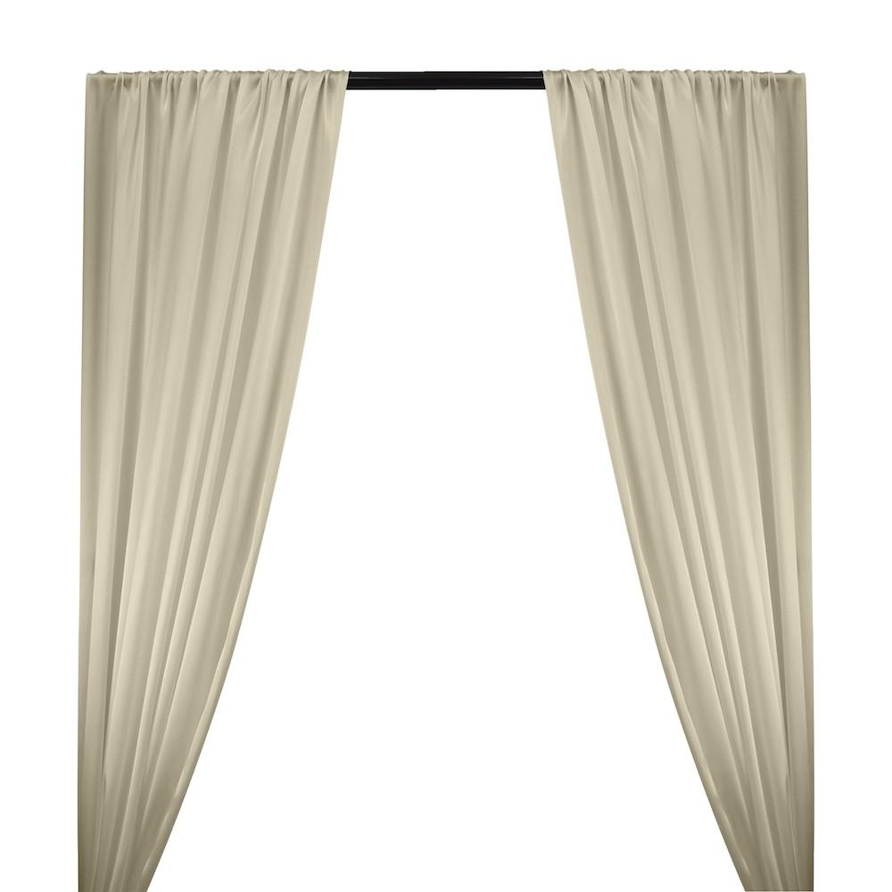 Silk Charmeuse Rod Pocket Curtains - Champagne