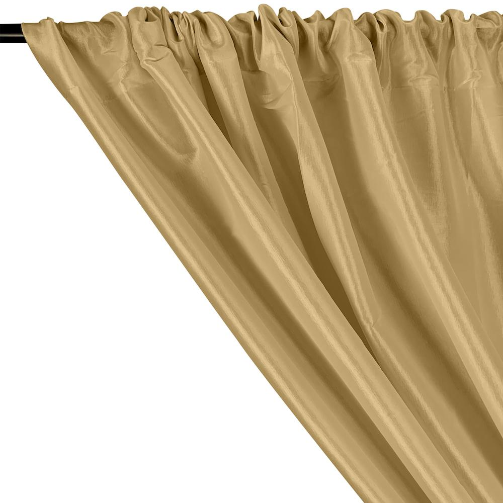 Stretch Taffeta Rod Pocket Curtains - Champagne