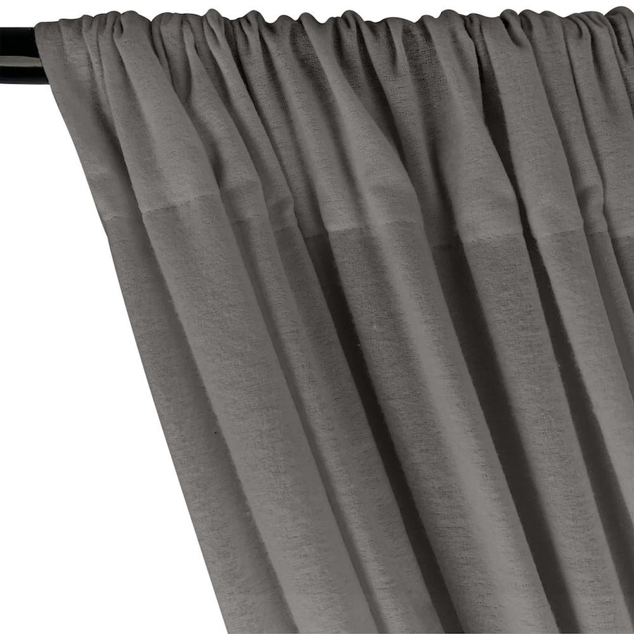 Cotton Flannel Rod Pocket Curtains - Charcoal