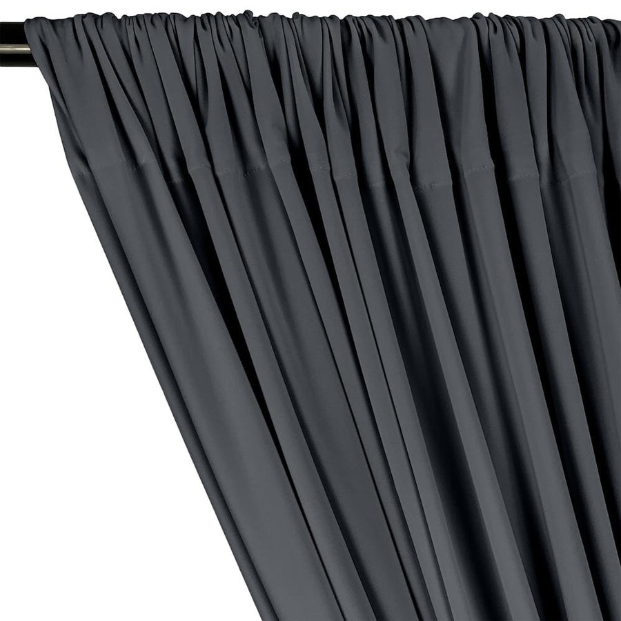 ITY Knit Stretch Jersey Rod Pocket Curtains - Charcoal