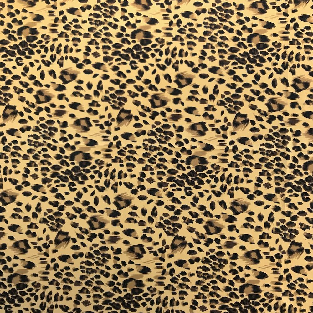 d7dab9c618 Cheetah Printed ITY Fabric (18-1)  4.99 yard Stretch Jersey Sold BTY -  Fabric Wholesale Direct