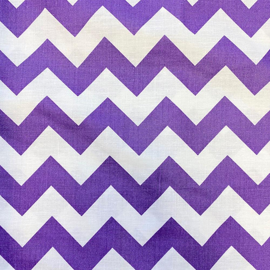 Purple Classic Chevron Printed Cotton