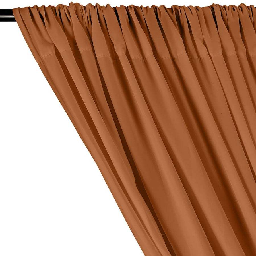 Peachskin Rod Pocket Curtains - Copper