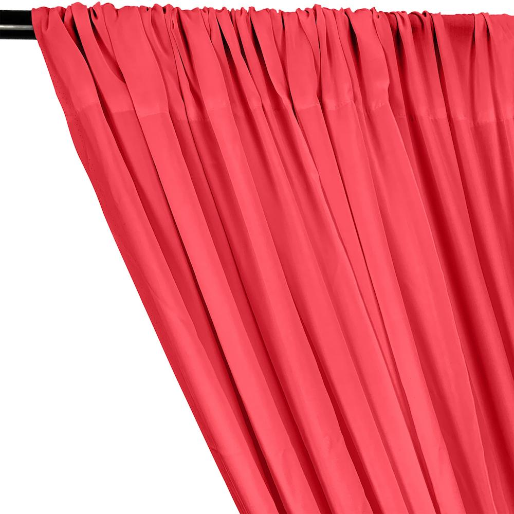 Rayon Challis Rod Pocket Curtains - Coral
