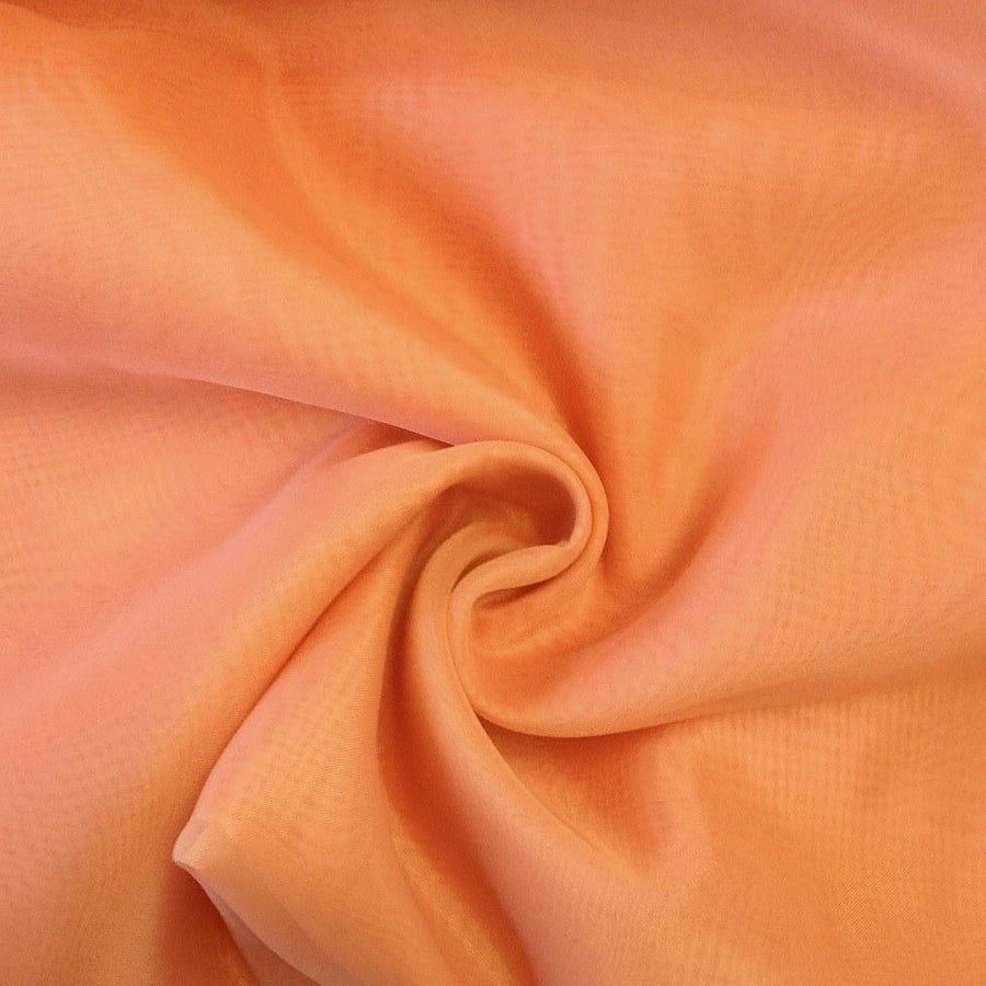 Sheer Voile Fire Retardant Rod Pocket Curtains - Coral