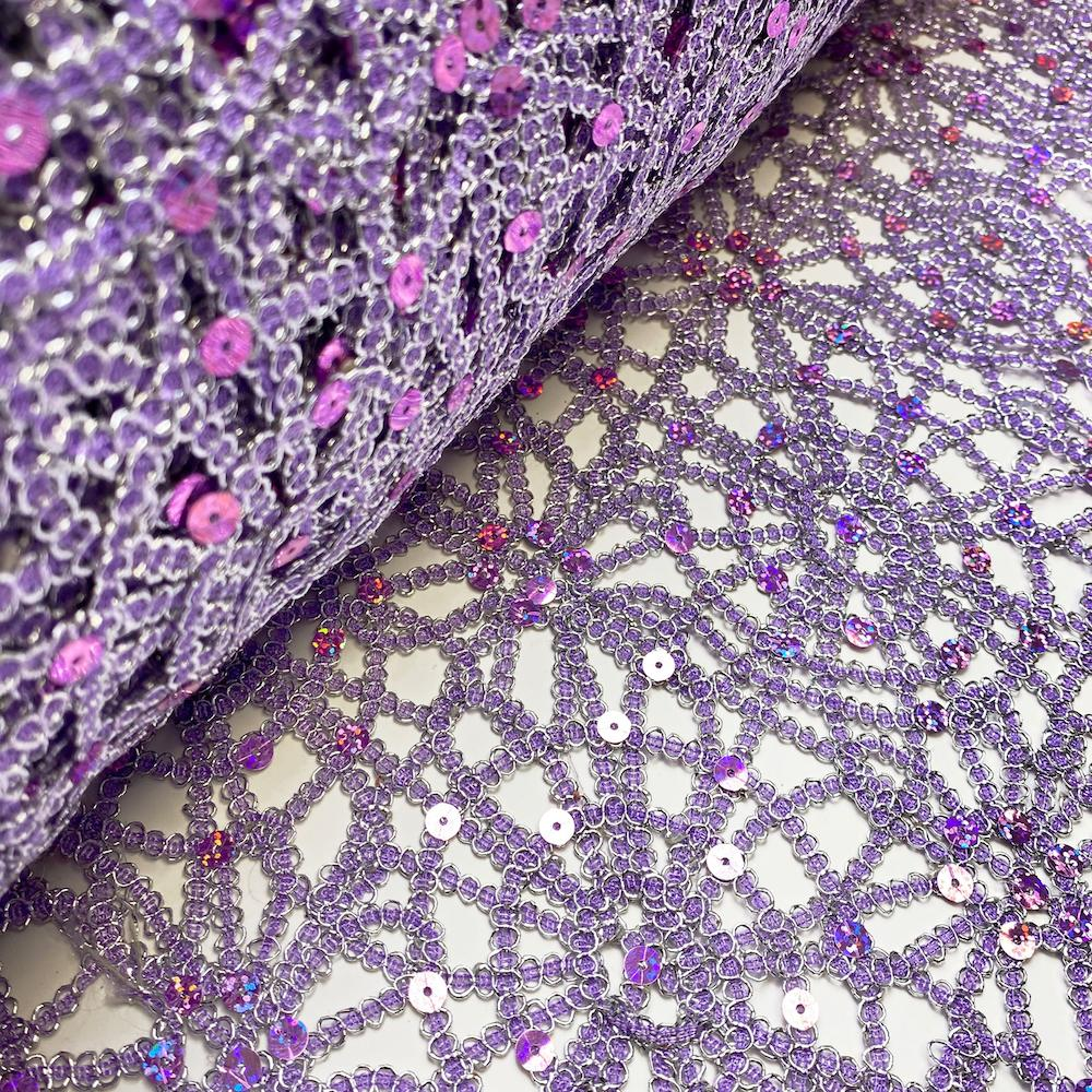 Lilac Corded Sequin Lace