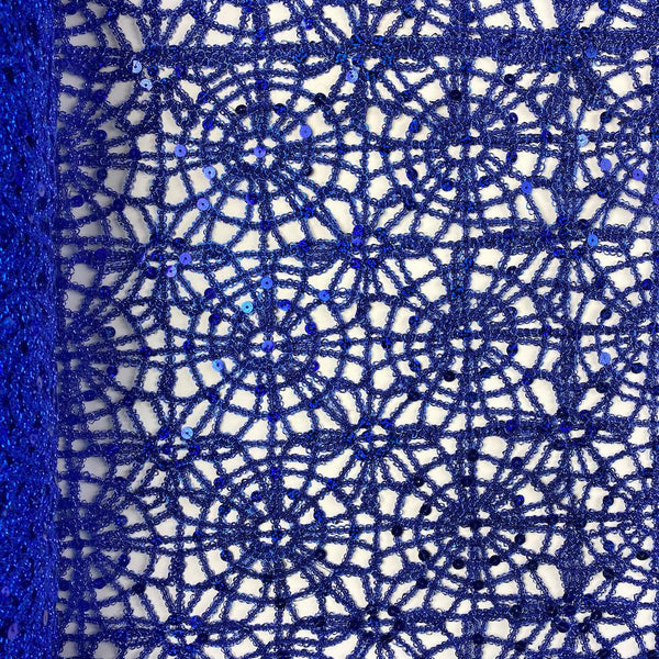 Royal Blue Corded Sequin Lace
