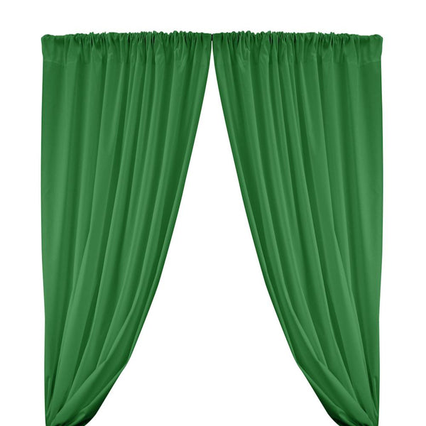 Cotton Polyester Broadcloth Rod Pocket Curtains - Kelly Green