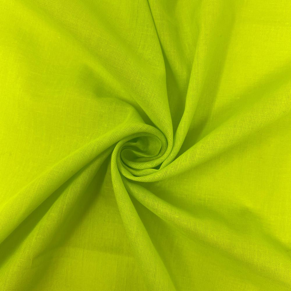 100/% Cotton Fabric Green Lime Green /& Pale Green Design