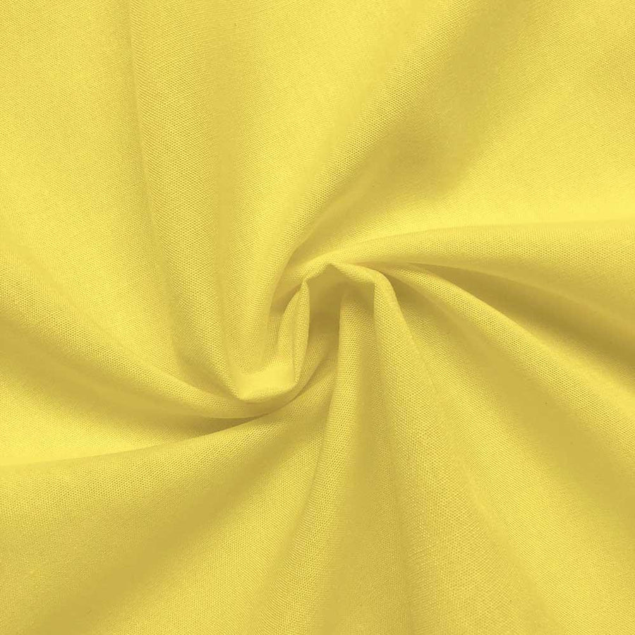 Cotton Polyester Broadcloth Rod Pocket Curtains - Neon Yellow