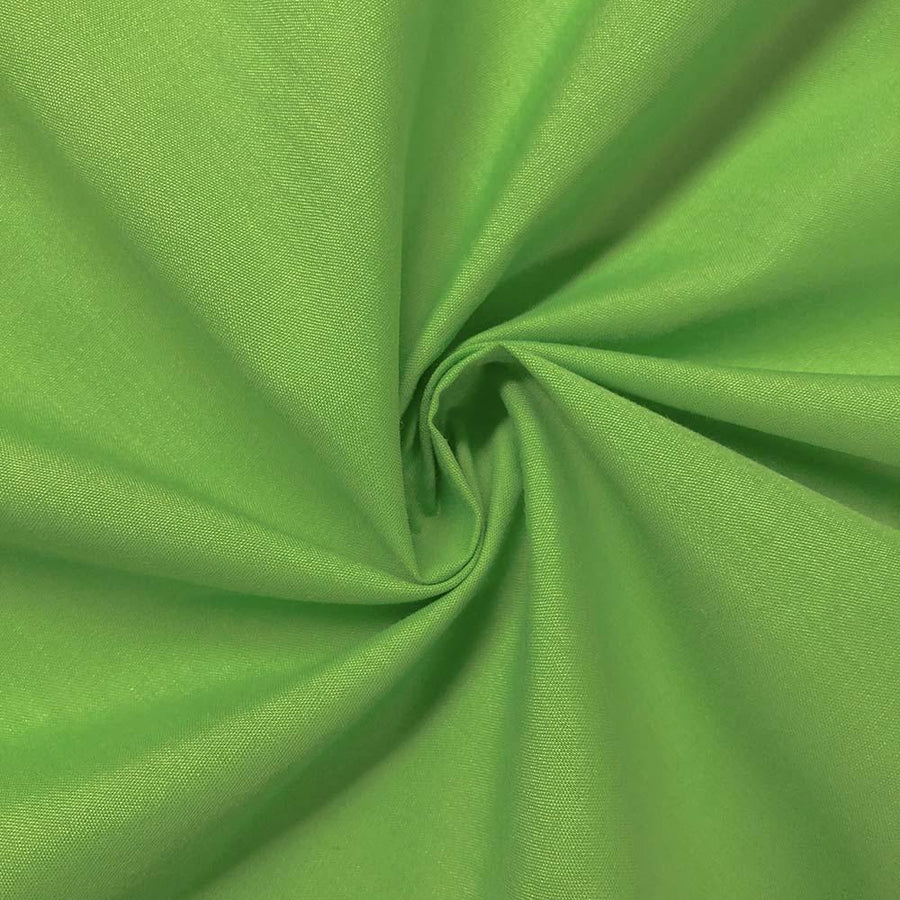 Cotton Polyester Broadcloth Rod Pocket Curtains - Apple Green
