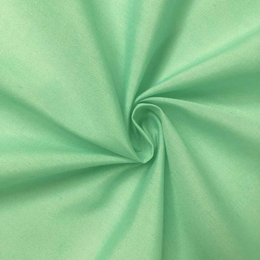 Cotton Polyester Broadcloth Rod Pocket Curtains - Aqua Green
