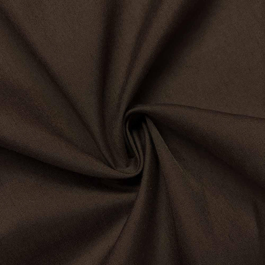 Cotton Polyester Broadcloth Rod Pocket Curtains - Brown