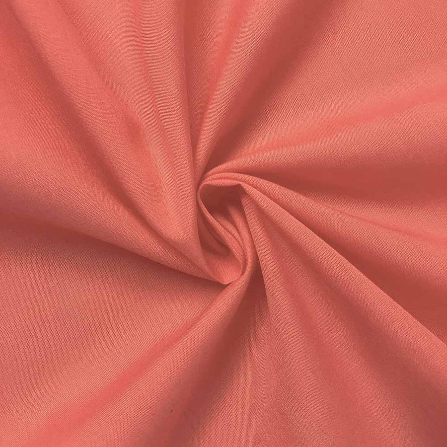 Cotton Polyester Broadcloth Rod Pocket Curtains - Coral