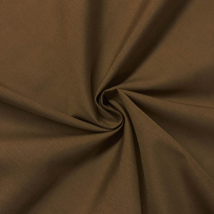 Cotton Polyester Broadcloth Rod Pocket Curtains - Dark Gold