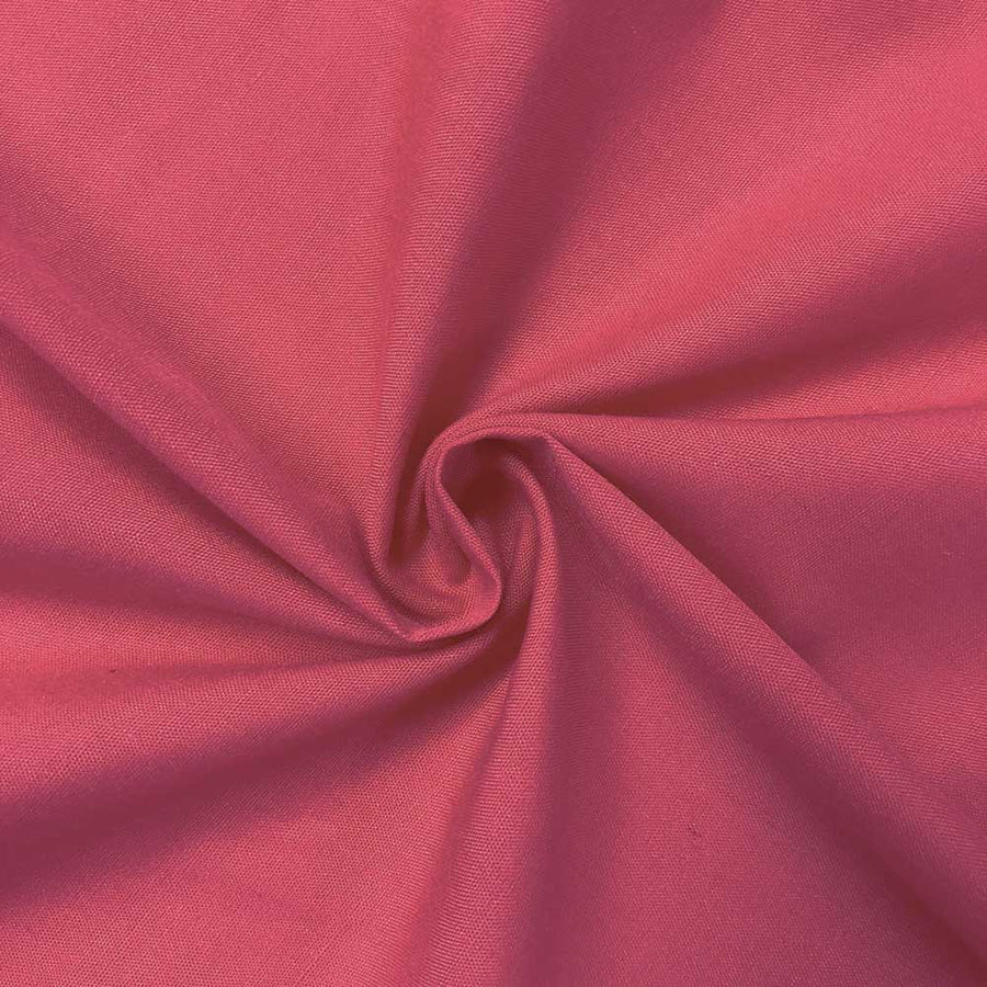 Cotton Polyester Broadcloth Rod Pocket Curtains - Fuchsia