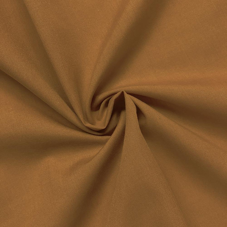 Cotton Polyester Broadcloth Rod Pocket Curtains - Gold
