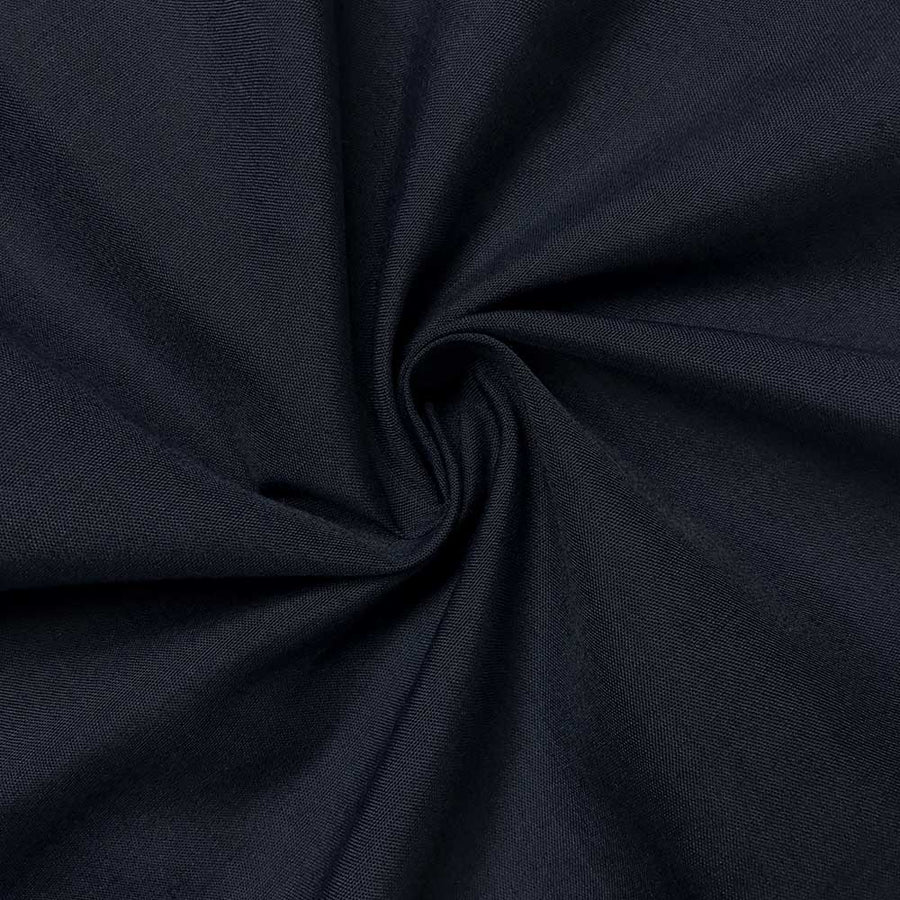 Cotton Polyester Broadcloth Rod Pocket Curtains - Navy Blue