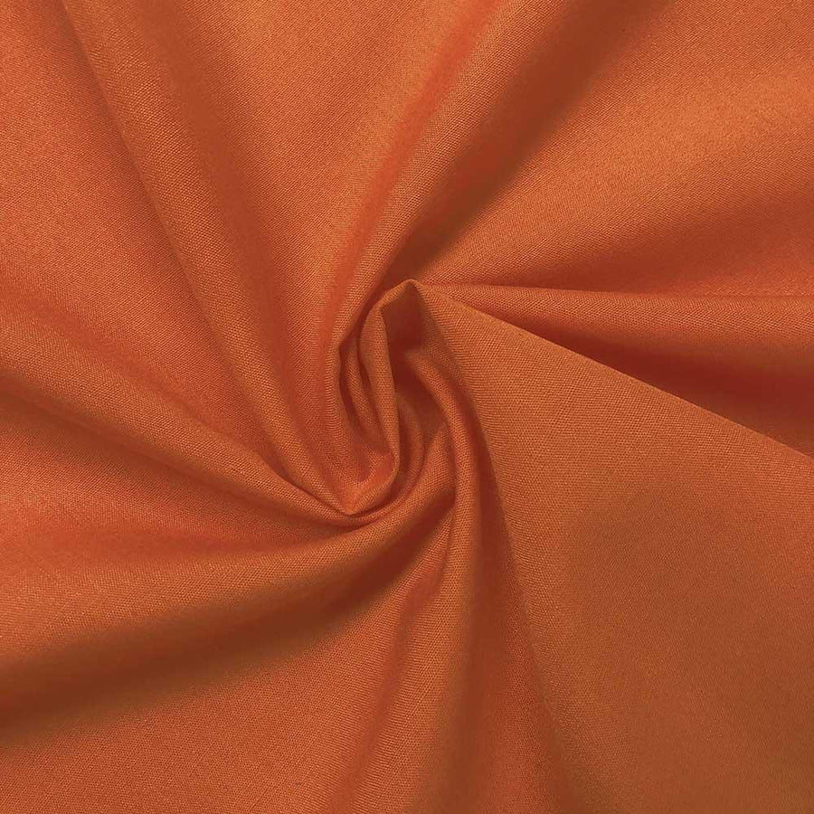 Cotton Polyester Broadcloth Rod Pocket Curtains - Orange
