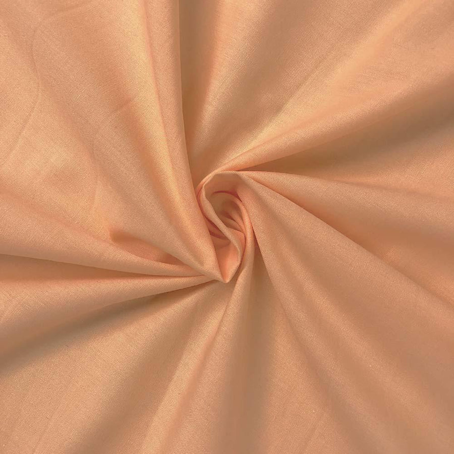 Cotton Polyester Broadcloth Rod Pocket Curtains - Peach