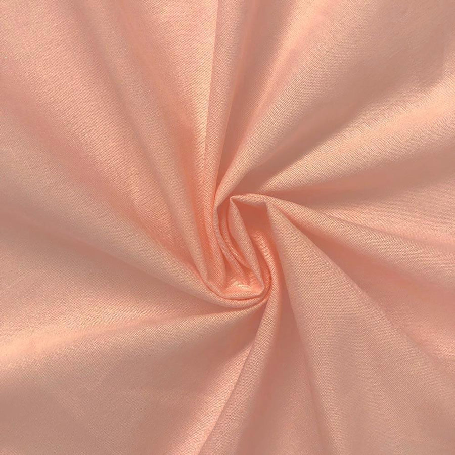Cotton Polyester Broadcloth Rod Pocket Curtains - Pink