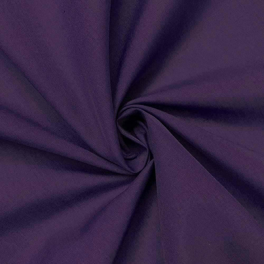 Cotton Polyester Broadcloth Rod Pocket Curtains - Purple
