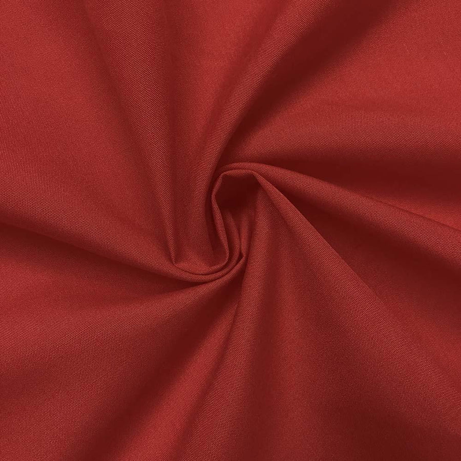 Cotton Polyester Broadcloth Rod Pocket Curtains - Red