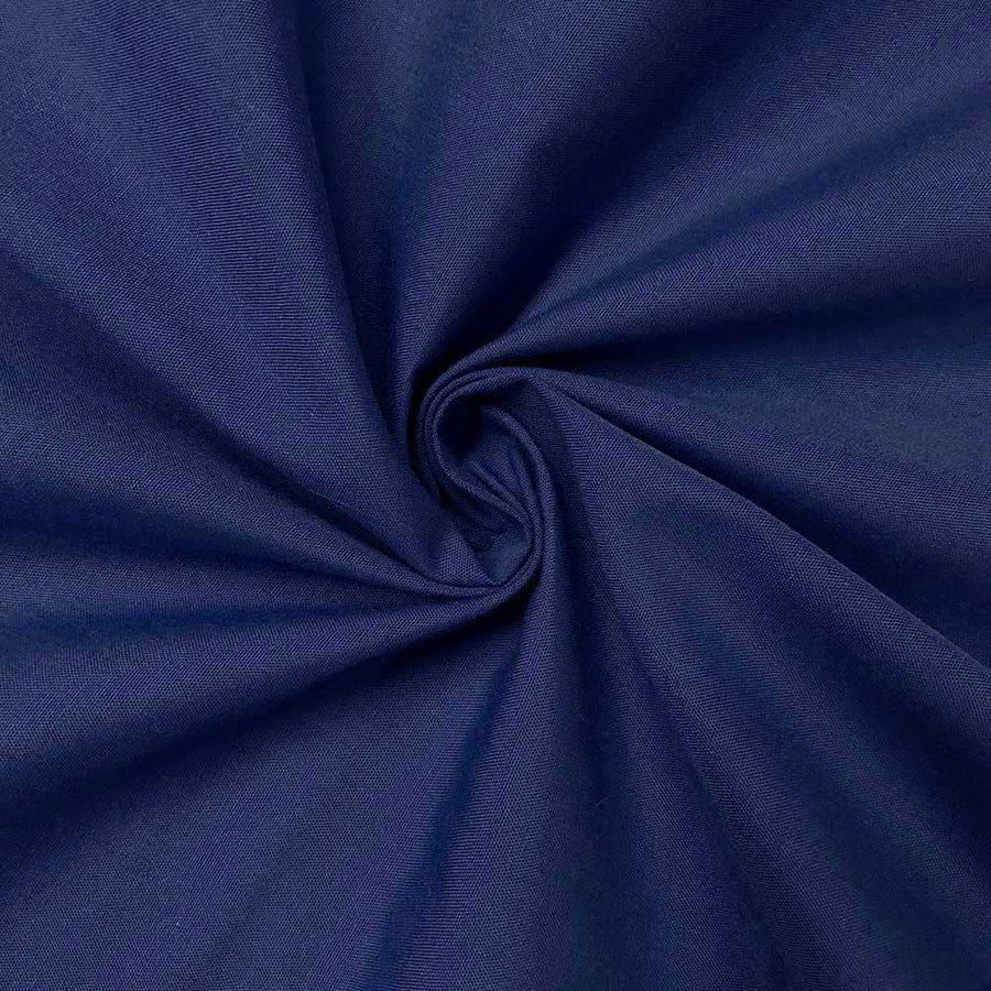 Cotton Polyester Broadcloth Rod Pocket Curtains - Royal Blue