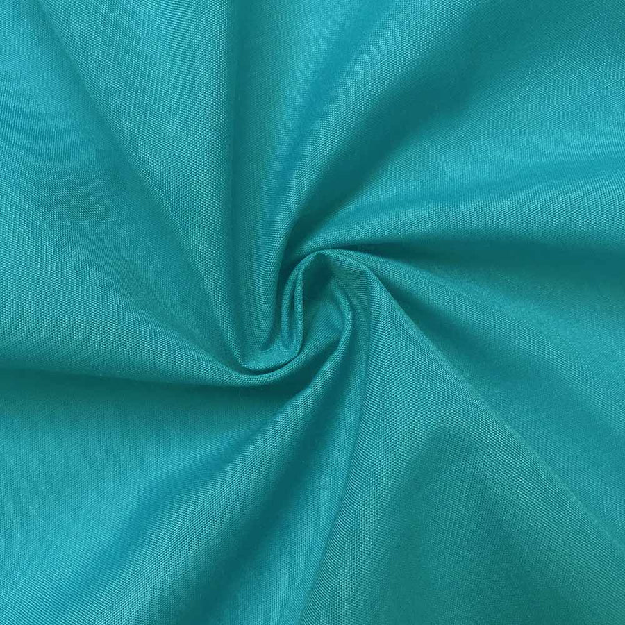 Cotton Polyester Broadcloth Rod Pocket Curtains - Turquoise