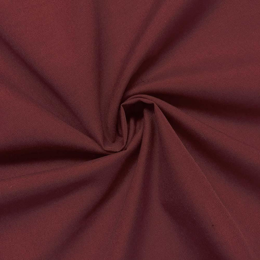 Cotton Polyester Broadcloth Rod Pocket Curtains - Wine