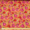 Crush Red Print Broadcloth Fabric