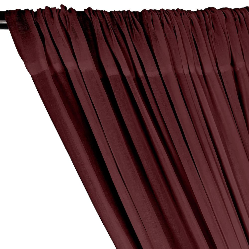Cotton Voile Rod Pocket Curtains - Dark Fuchsia