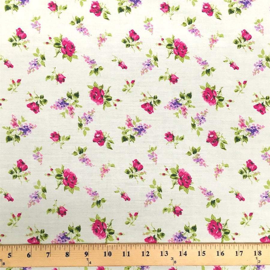 Delilah Pale Yellow Print Broadcloth Fabric