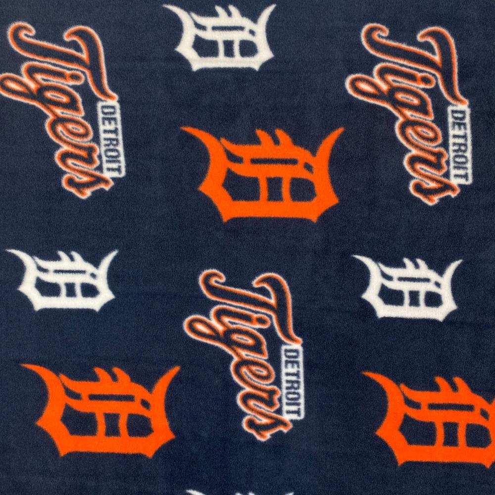 Detroit Tigers MLB Fleece Fabric